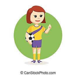 soccer ball player girl