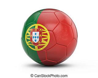 Soccer ball Portugal flag