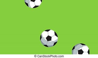 Soccer ball raining HD animation - Soccer ball raining...