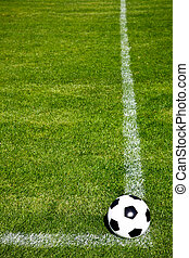 Soccer Ball Ready To Shoot - Perspective View Of A Soccer ...