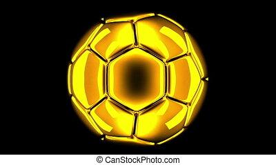 soccer ball rotating 3d render