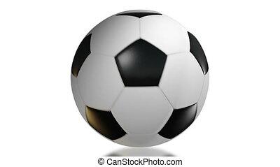 Soccer Ball, Rotation on white background