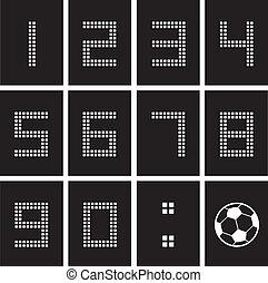 soccer ball score board number