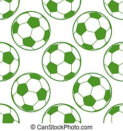 Soccer ball seamless background
