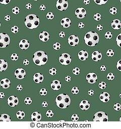 Soccer Ball Seamless Pattern