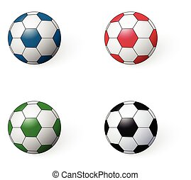 soccer ball set  . Football icon. vector