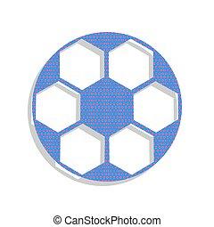 Soccer ball sign. Vector. Neon blue icon with cyclamen polka dot