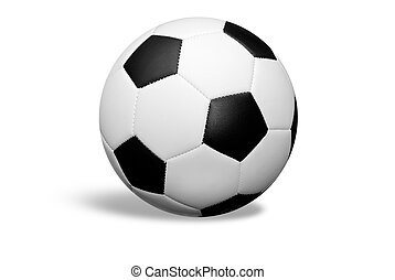 Soccer ball  - soccer ball isolated over white with a shadow