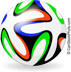 Soccer or football official ball on white background