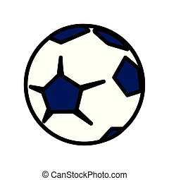 soccer ball sport on white background