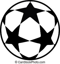Soccer ball stars icon championship uefa - Soccer ball stars...