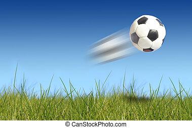 Soccer ball - Image of soccer ball flying