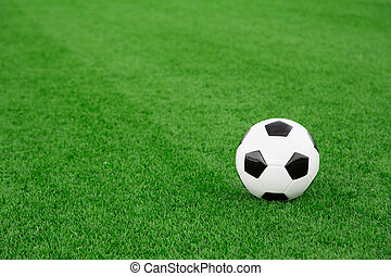 Soccer ball - Traditional soccer ball on soccer field