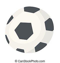Soccer ball vector cartoon illustration.