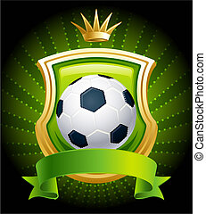 Soccer ball - Vector illustration - banners with soccer ball...