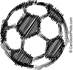 soccer ball. vector illustration.