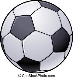 Soccer Ball - Vector illustration of an isolated black and...