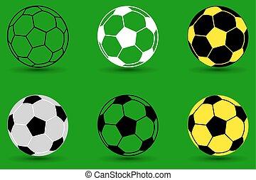 Soccer ball vector illustration - set