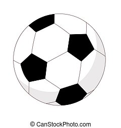 Soccer ball. Vector isolated image on white background. Football ball in flat style.