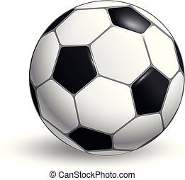 Soccer ball vector layout isolated on white background