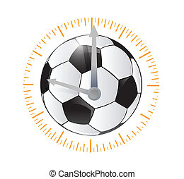 soccer ball watch illustration
