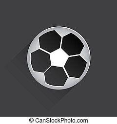 soccer ball web flat icon.
