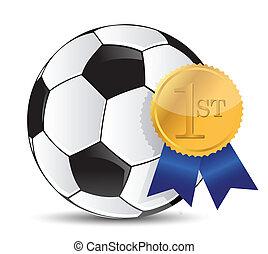 soccer ball with award