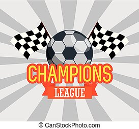 soccer ball with checkered flags