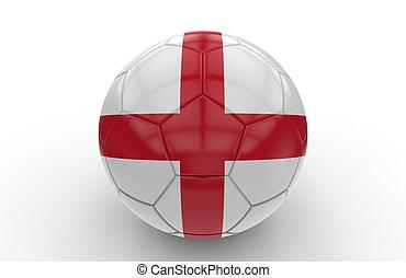 Soccer ball with england flag