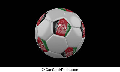 Soccer ball with flag Afghanistan, alpha loop