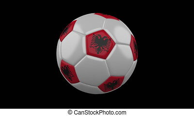 Soccer ball with flag Albania, alpha loop