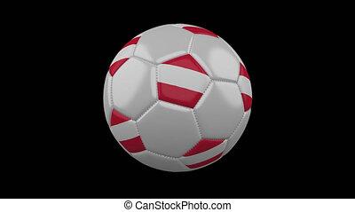 Soccer ball with flag Austria, alpha loop