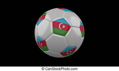 Soccer ball with flag Azerbaijan, alpha loop