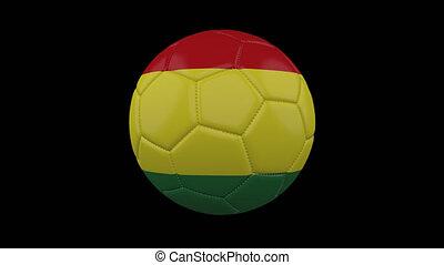 Soccer ball with flag Bolivia, alpha loop