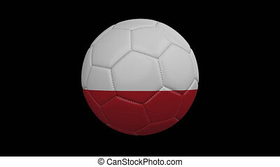 Soccer ball with flag Chile, alpha loop