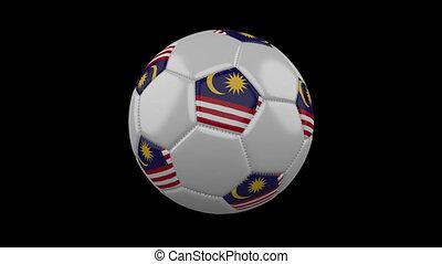 Soccer ball with flag Malaysia, loop, 4k with alpha - Soccer...
