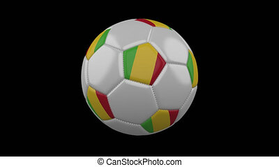 Soccer ball with flag Mali loop 4k with alpha