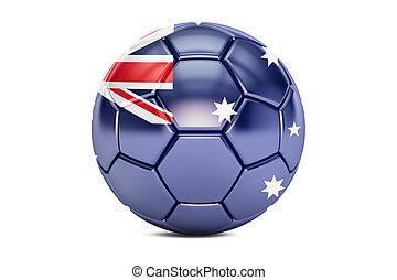 soccer ball with flag of Australia, 3D rendering