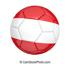 Soccer ball with flag of Austria