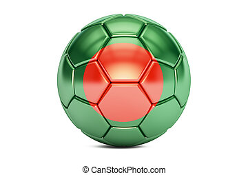 soccer ball with flag of Bangladesh, 3D rendering