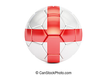 soccer ball with flag of England, 3D rendering
