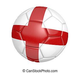 Soccer ball with flag of England