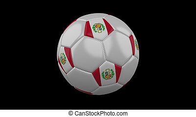 Soccer ball with flag Peru, 3d rendering