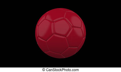 Soccer ball with flag Peru, alpha loop - Soccer ball with...