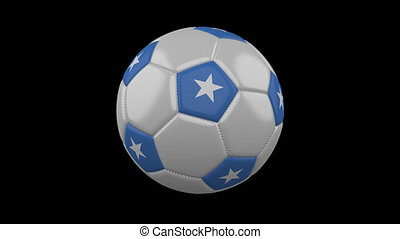 Soccer ball with flag Somalia loop 4k with alpha