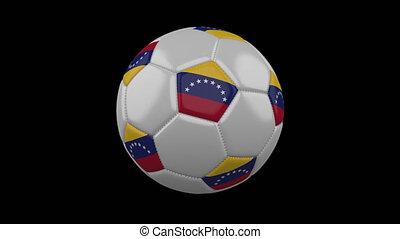 Soccer ball with flag Venezuela, alpha loop