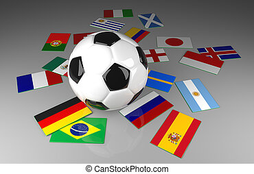 Soccer ball with flags, Soccer competition