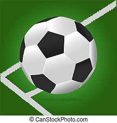 Soccer Ball With Green Background a