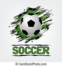 Soccer ball with grunge effect - Soccer ball vector...