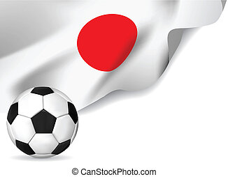 Soccer ball with japan flag